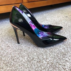 Ted Baker Black Patent Rose Gold Pumps
